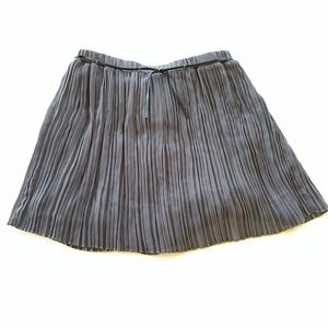Zara girls Pleated Dark Gray Skirt